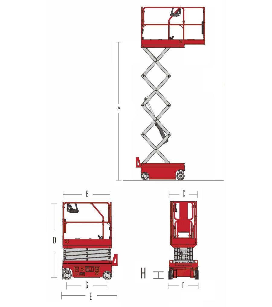 Hydraulic Scissor Lift HS0607H