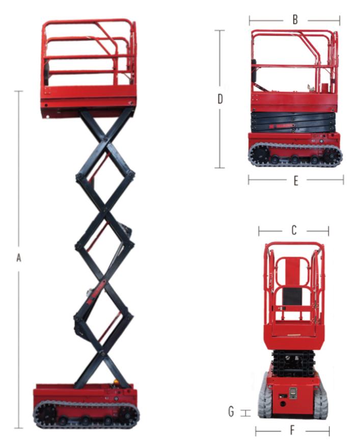 Crawler Scissor Lift HC0507E