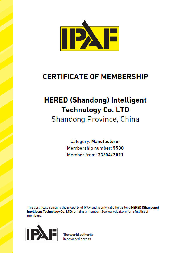 Hered, a member of IPAF since 2021
