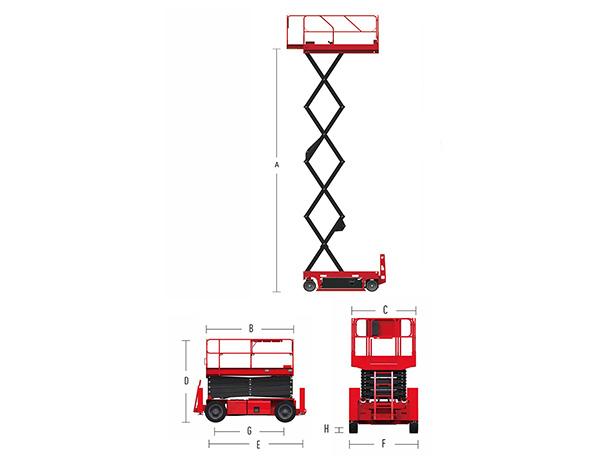 Hydraulic Scissor Lift HS0812H
