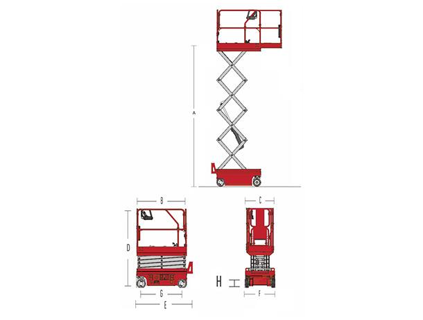 Electric Scissor Lift HS0507WE