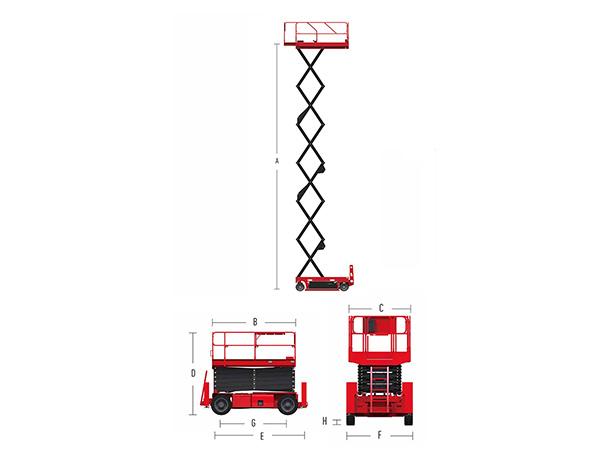 Electric Scissor Lift HS1212E